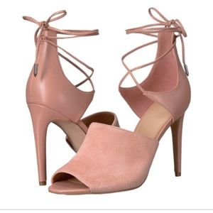 Marc Fisher Rylin suede ankle wrap heels shoes 6 M